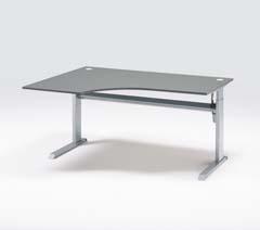 Desks, height adjustable