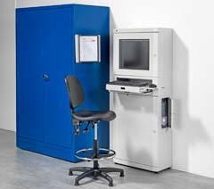 Computer storage cabinets