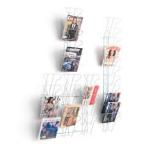 Literature stands and leaflet racks