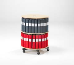 Rotary binder storage