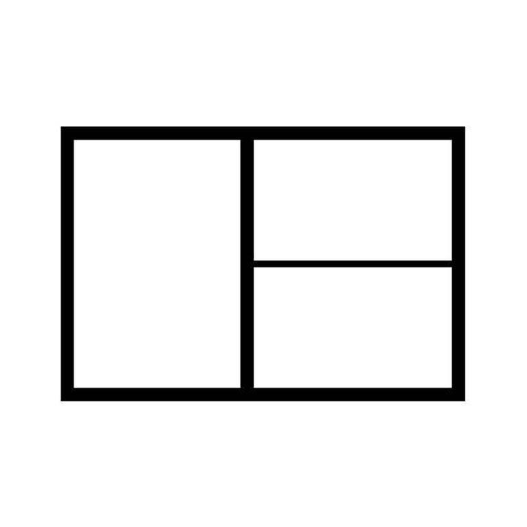 A1 drawer partition: 1 x A2 + 2 x A3
