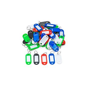 Plastic key tags, 50-pack