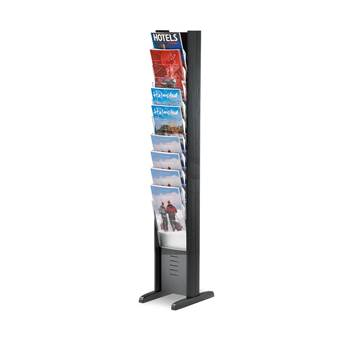 Display rack, A4, 10 comps, floor model