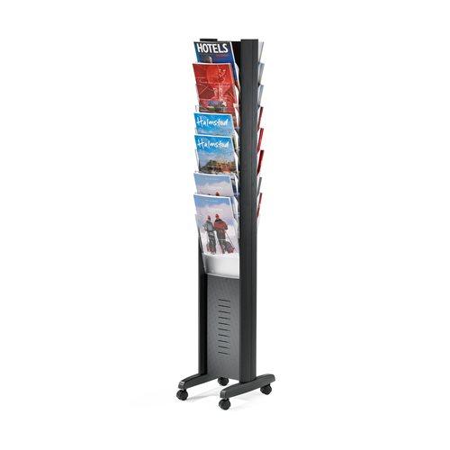 Display/broschyrställ golv hjul