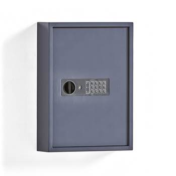 Nøkkelskap med kodelås, 100 kroker, grå