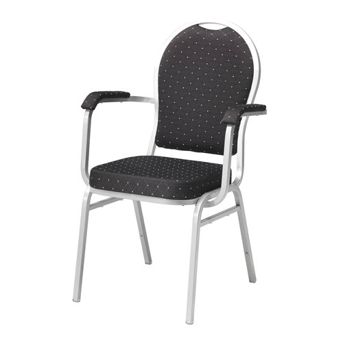 Banquet/ Conference chair: black/silver