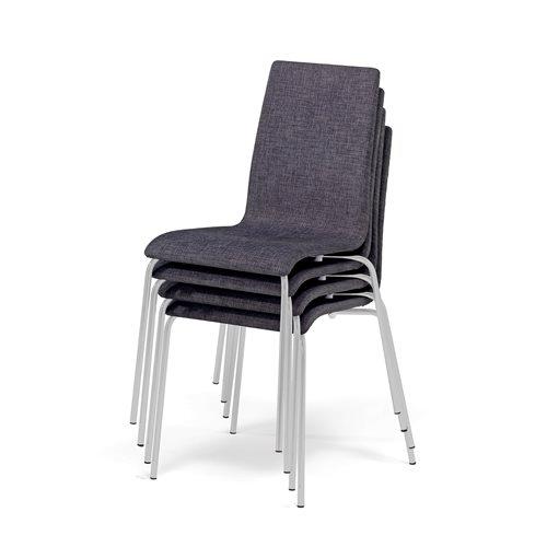 Zestaw 4 wygodnych krzeseł konferencyjnych