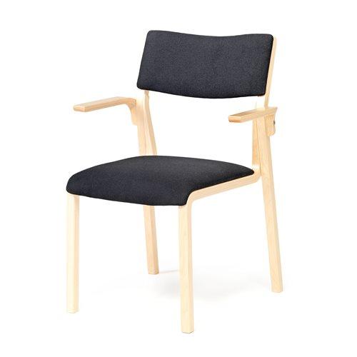 Krzesło konferencyjne w kolorze buk