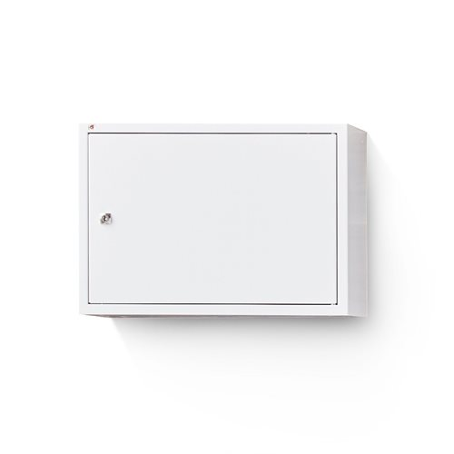 Biała szafka na segregatory o wys.380mm