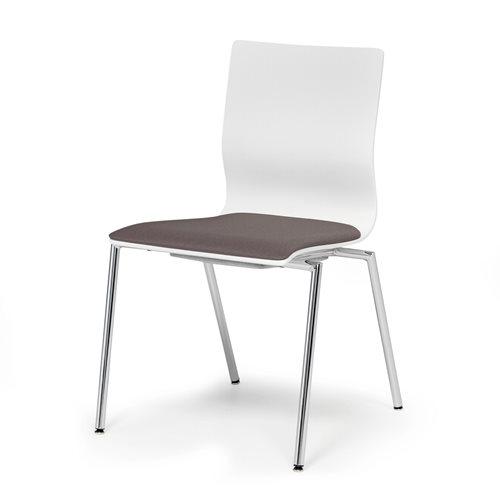 Szare krzesło konferencyjne bez podłokietników