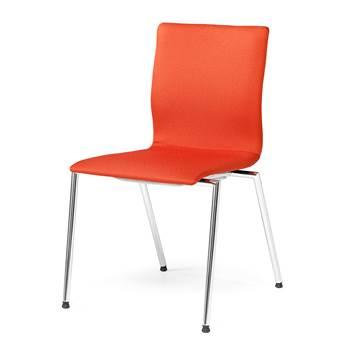 Konferencijska stolica: crvena: bez rukonaslona