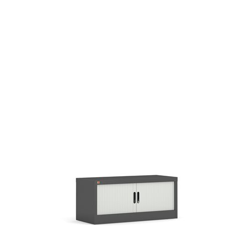 Rulokaappi, 440x1000x420 mm, harmaa, valkoiset ovet