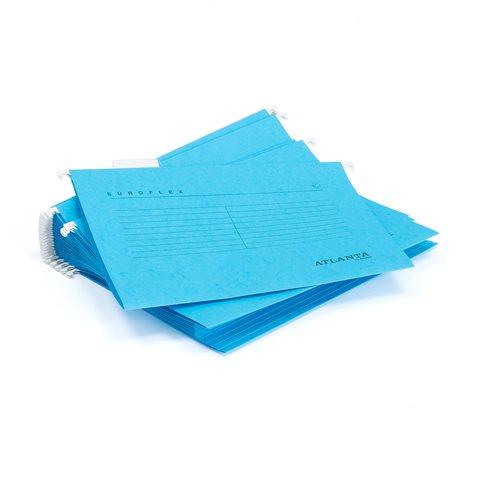 Niebieskie skoroszyty wiszące A4 25szt