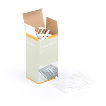 Klips til arkivering / hefting av papirer, 50-pk, hvit