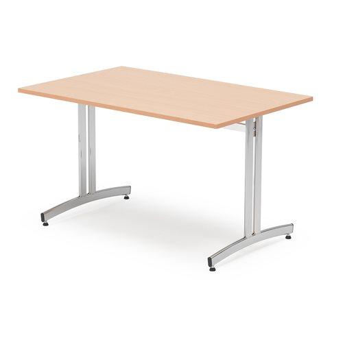 Stół do jadalni 720x700x1200mm, Blat: Buk Laminat, Stelaż: Chrom