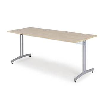 Stół do jadalni 720x700x1800mm, Blat: Brzoza Laminat, Stelaż: Aluminium
