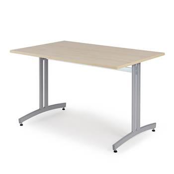 Ruokapöytä, 1200x800 mm, koivulaminaatti, harmaa