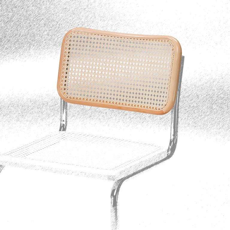 Backrest to cantilever chair