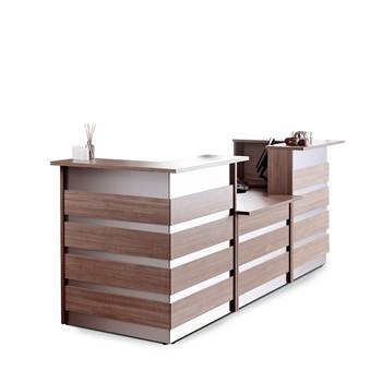 Complete reception desk system, 3000x1000x1150 mm