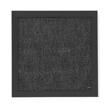 #en Notice board, 450x450mm, black/grey