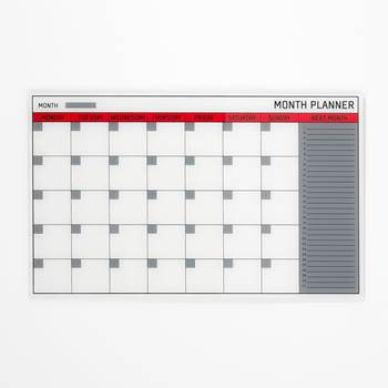 Glass monthly planning board