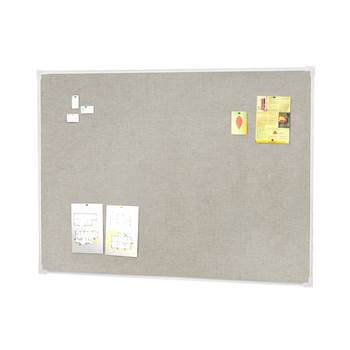Notice board, 900x600 mm, light grey, alu frame
