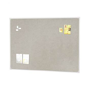 Notice board, 1200x900 mm, light grey, alu frame