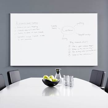 Whiteboard tavle - magnetisk, 2000 x 1200 mm