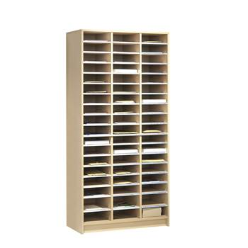 Pigeon hole storage unit, 54 comps, 1880x915x400 mm, birch