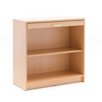Mail cupboard, no doors, 890x915x400 mm, beech