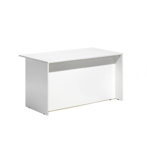 Lada recepcyjna- moduł prosty dolny, Biały/biały, Długość:1200mm