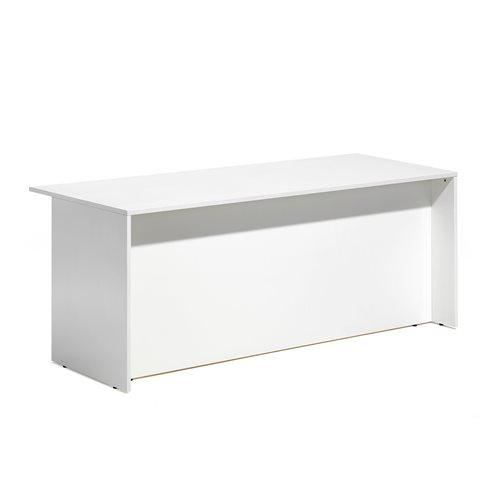 Lada recepcyjna- moduł prosty dolny, Biały/biały, Długość:1800mm