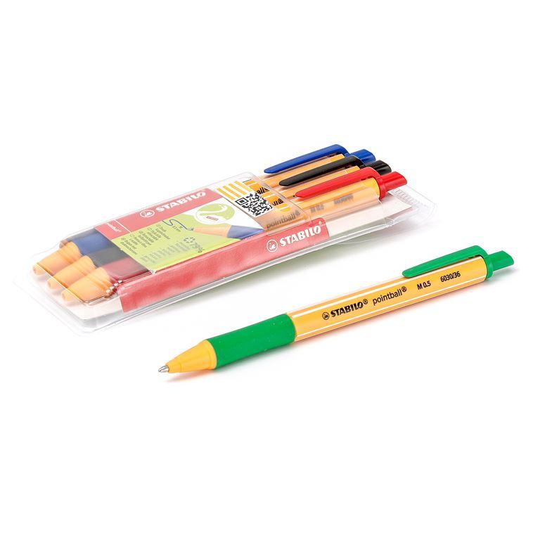 Stabilo ® ballpoint pen set:4-pack