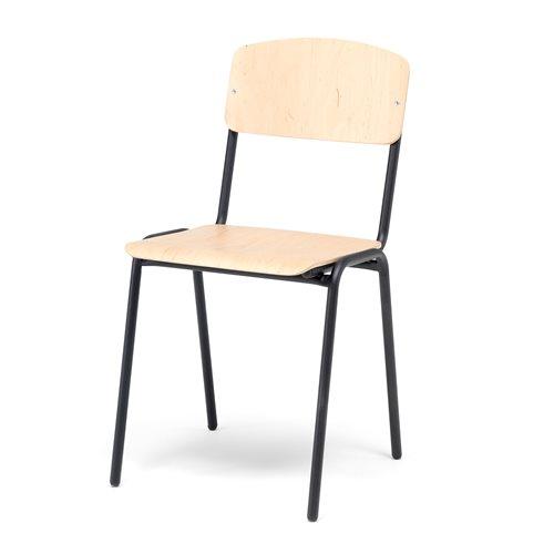 Krzesło stołówkowe brzoza/czarny