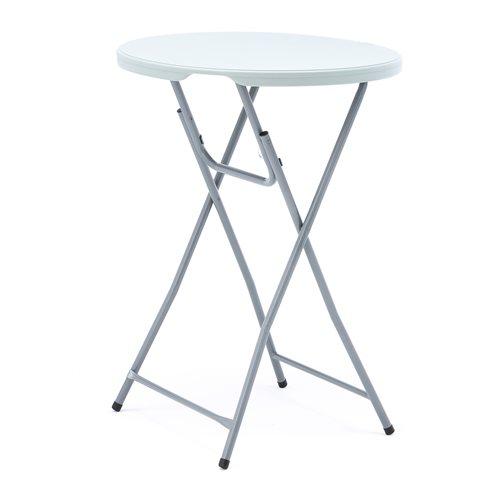 Składany okrągły stolik barowy