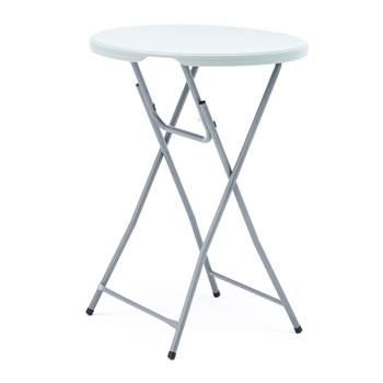 Składany okrągły stolik barowy Ø800 mm, wys. 1100 mm