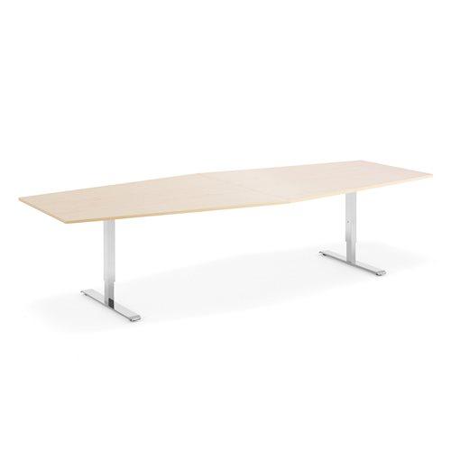 Neuvottelupöytä, 1200/800x2800 mm, pyökkilaminaatti, kromi