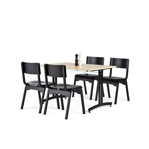 Zestaw mebli do stołówki 1 stół + 4 krzesła