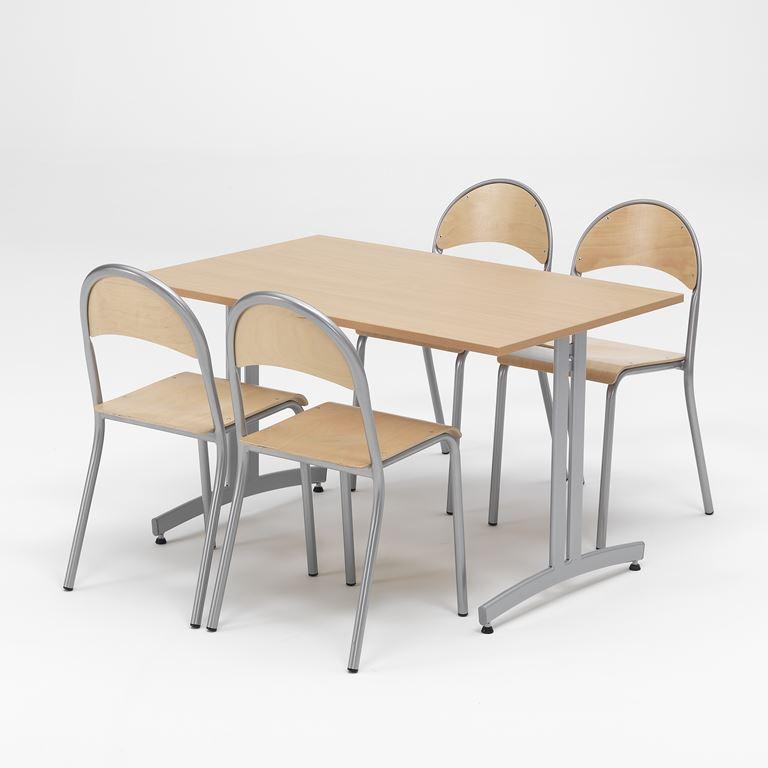 Liten lunchrumsgrupp, Bok/Alugrå
