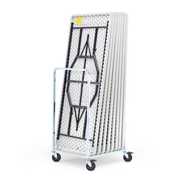 Table trolley, max. 10 tables, 760x700x1230 mm, galvanised