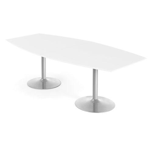Neuvottelupöytä, 2400x1200 mm, valkoinen, harmaa
