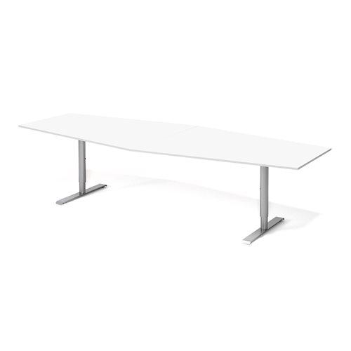 Neuvottelupöytä, 2800 mm, valkoinen, harmaa