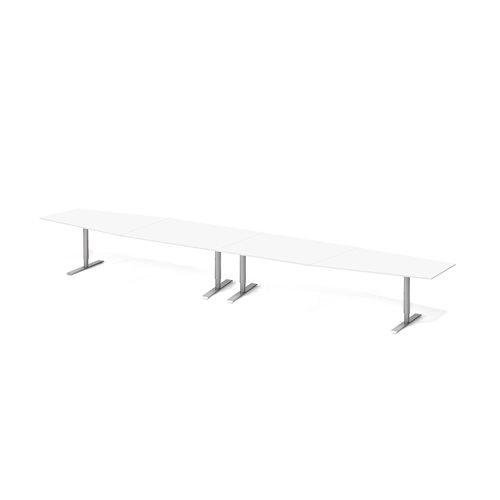 Neuvottelupöytä, 5600 mm, valkoinen, harmaa