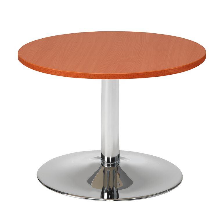 Sohvapöytä Ø 700 x K 500 mm, Calvadoslaminaatti, Kromi