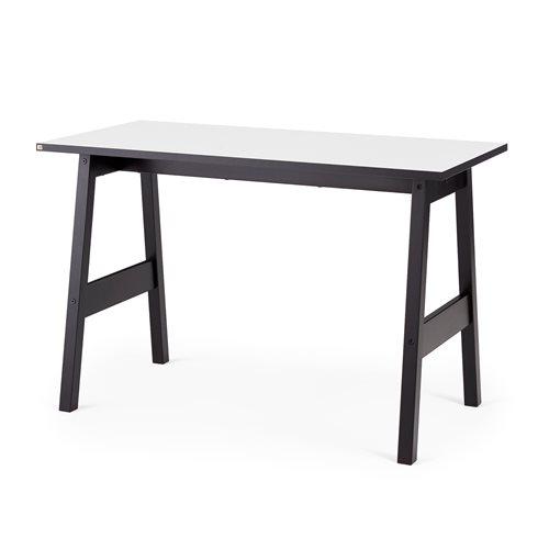 Työpöytä Nomad, 1200x600 mm, valkoinen, musta