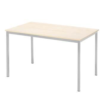 Kantinebord, 1200 x 800 mm, bjørk/alugrå
