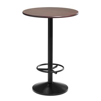Walnut bar table, single, Ø 800x1120 mm, black frame