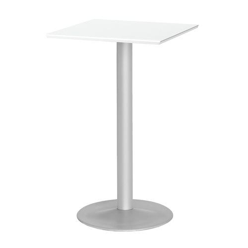 Baaripöytä, puukuvioitu pöytälevy, 700x700 mm, valkoinen, harmaa