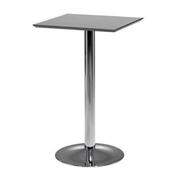 Stół barowy o dł.700mm. Blat: Czarny, Stelaż chrom