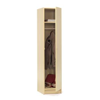 Wooden clothes locker, 1850x400x530 mm, birch laminate